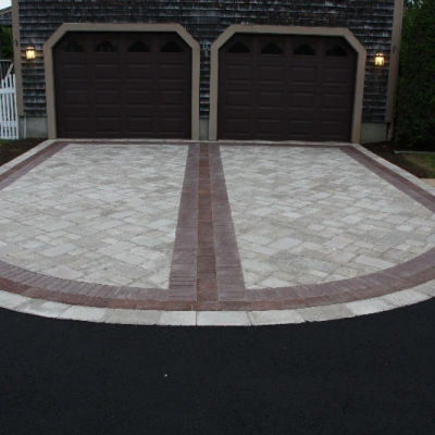 Driveway using Brussels , Copthorne, and Il Campo pavers.